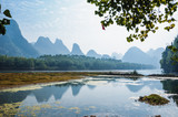 Karst mountains and Lijiang River scenery