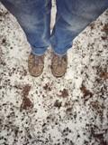 attesa al freddo sulla neve