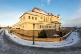Spilberk Castle, winter morning, Brno, South Moravia, Czech Republic