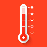 Love thermometer Valentines Day card idea