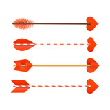 Cupids arrows, Valentines Day cards element