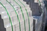 White silica bricks in plastic packaging - 133665594