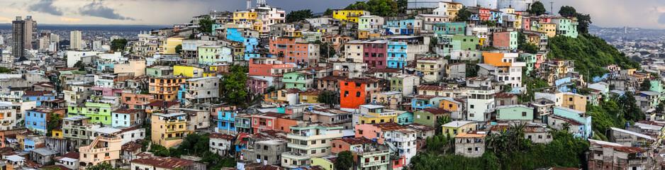 Panorama view from Santa Ana hill, Guayaquil, Ecuador