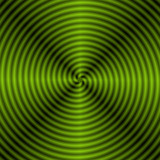 Green Quartered Spiral / A digital abstract fractal image with a monochrome quartered spiral design in green. - 133676914