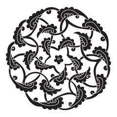 Iznik style pentagram design