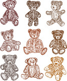 collection of the teddy bears