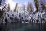 Plitvice national park in winter