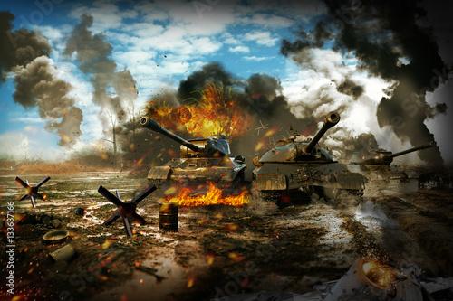 Czołg w strefie działań wojennych