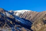 Горный пейзаж, снежные склоны, природа Северного Кавказа