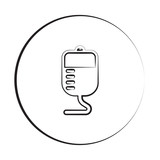 Black ink style Transfusion icon with circle