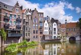 Delfshaven in Rotterdam, historic centre of Netherlands