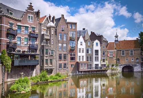 Foto op Canvas Rotterdam Delfshaven in Rotterdam, historic centre of Netherlands