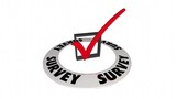 Survey Question Answer Check Mark Box Word 3d Animation