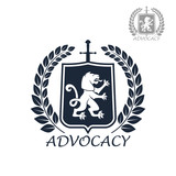 Advocacy vector isolated icon or emblem
