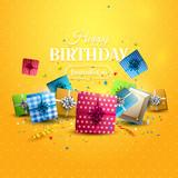 Birthday orange template