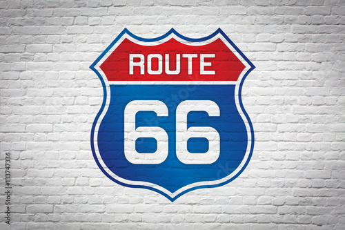 Poster Route 66 sign