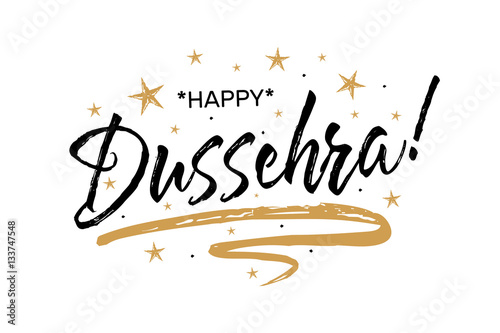 Happy dussehra festivalautiful greeting card scratched happy dussehra festivalautiful greeting card scratched calligraphy black text word gold starshand m4hsunfo