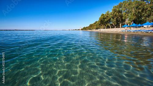 Fotobehang Cyprus Clear sea water at Dasoudi beach in Limassol, Cyprus