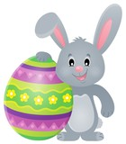 Stylized bunny with Easter egg theme 1