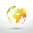 earth icon green yellow red gradient