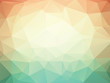 orange green geometric background with triangles