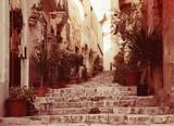 Old  street of european town