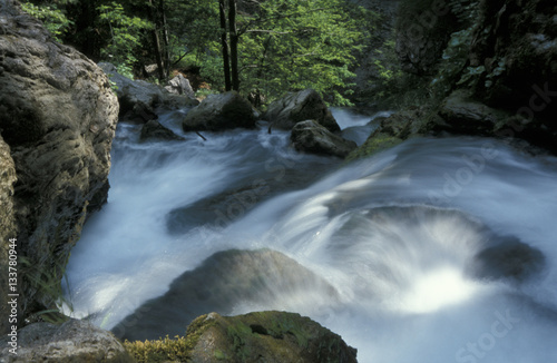 Foto op Canvas Fantasie Landschap Waterfall Treffling, Austria, Lower Austria, Oetscher Mariazell,