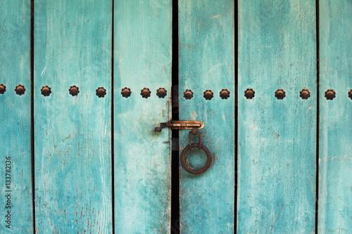 Poster Korean traditional door background