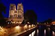 Notre Dame de Paris at Evening,  France