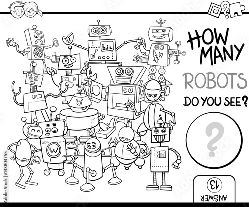 count the robots for coloring