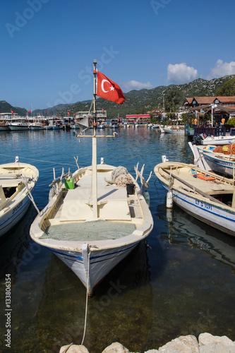 Poster  Boats in Kekove  harbor