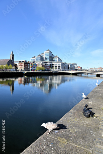 Poster Rives du Liffey à Dublin