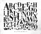 Vintage gothic alphabet - 133817506