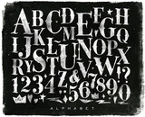 Vintage gothic alphabet chalk - 133817525