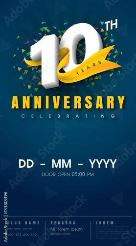 Anniversary Invitation Card Template Design 133818396 Na