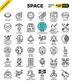 Space and galaxy icons