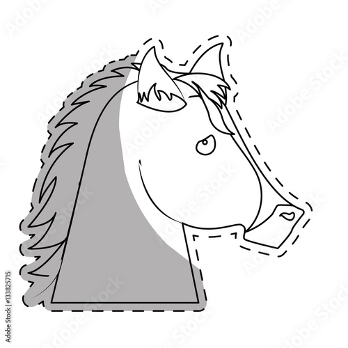 Poster horse equine icon image vector illustration design