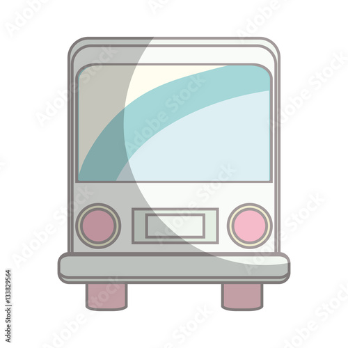 Poster bus vehicle isolated icon vector illustration design