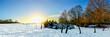 Winterliche Landschaft bei Sonnenuntergang