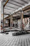 abandoned building, empty old factory - warehouse