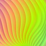 Color Wave from Pink to Green / An abstract digital image with a color wave design in pink, orange, yellow and green. - 133851787