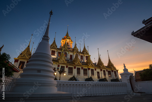 Poster Lohaprasat in Wat Ratchanatdaram Worawihan, beautiful temple in Bangkok, Thailan