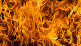 Blazing fire flame background and textured - 133856778