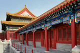 Ancient architecture of palaces complex in Forbidden City, Beijing, China