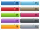 Screen settings icons on color glossy, rectangular menu butt