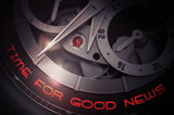 Time For Good News on Luxury Men Wrist Watch Mechanism. 3D.