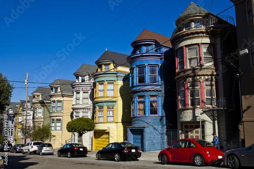 Poster Colorful houses en San Francisco