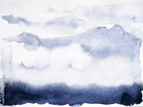black shade background watercolor painting hand drawn - 133906348
