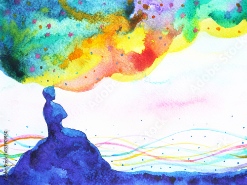 power of thinking, abstract imagination, world, universe inside your mind