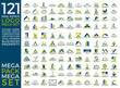 Mega Set and Big Group, Real Estate, Building and Construction Logo Vector Design Eps 10